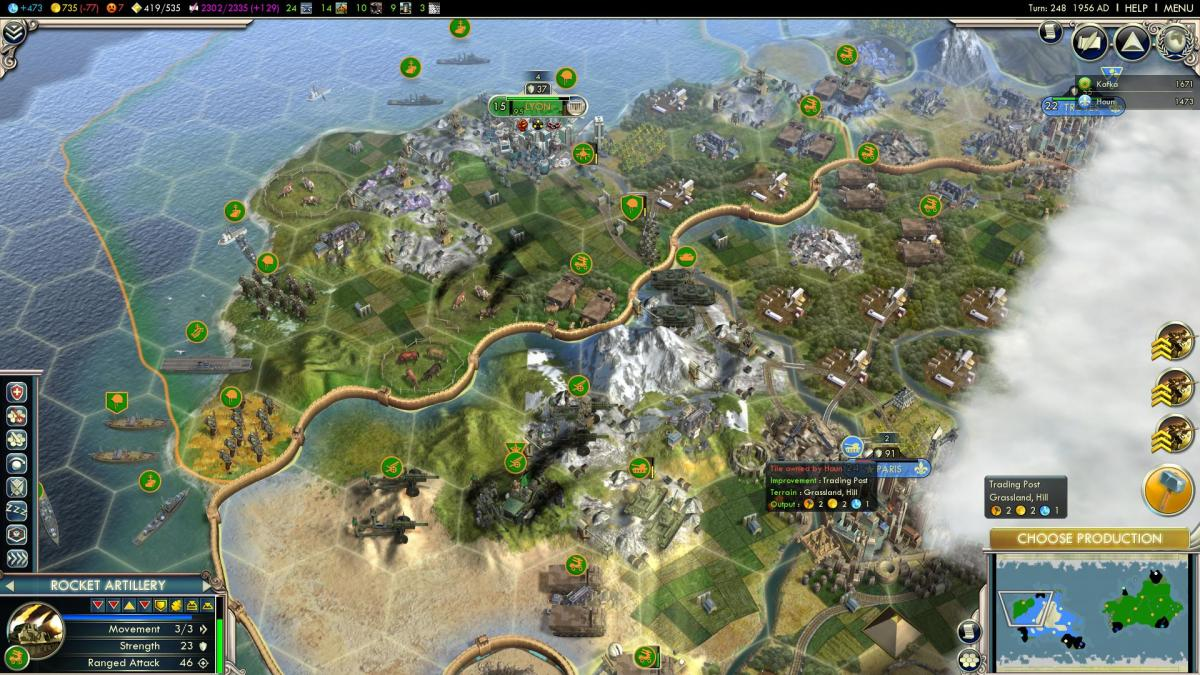 Civilization V Hotkeys & Keyboard Shortcuts List