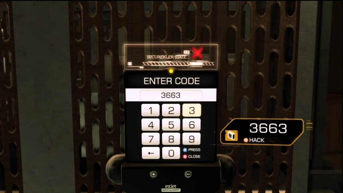 Deus Ex Human Revolution Key Codes