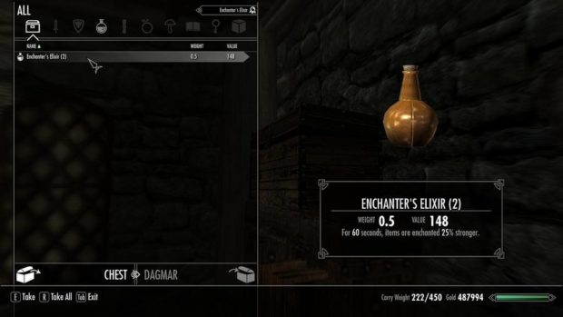 Skyrim Potions Recipes