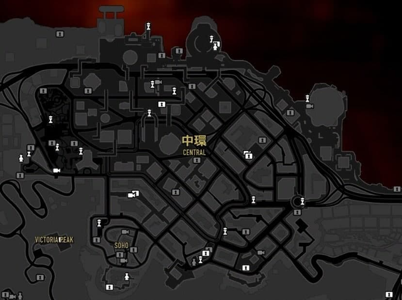Sleeping Dogs Collectibles Show On Map