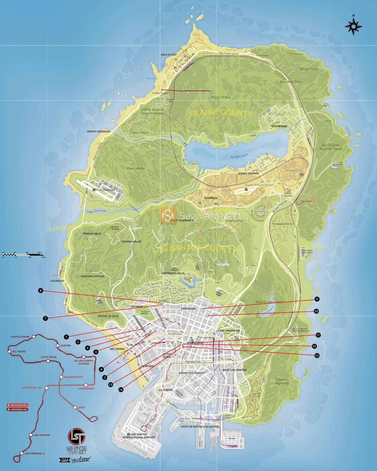 GTA 5 Knife Flights Locations Map and Video Guide | SegmentNext