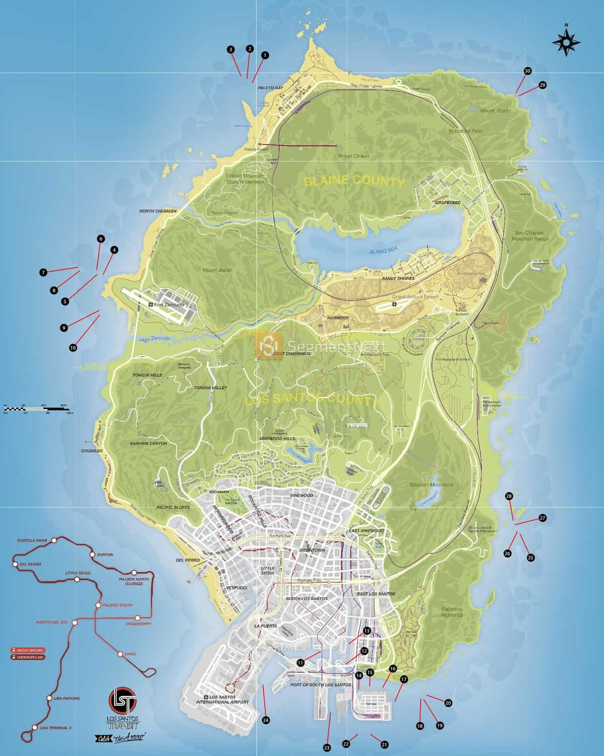 gta 5 submarine pieces locations map click to open map