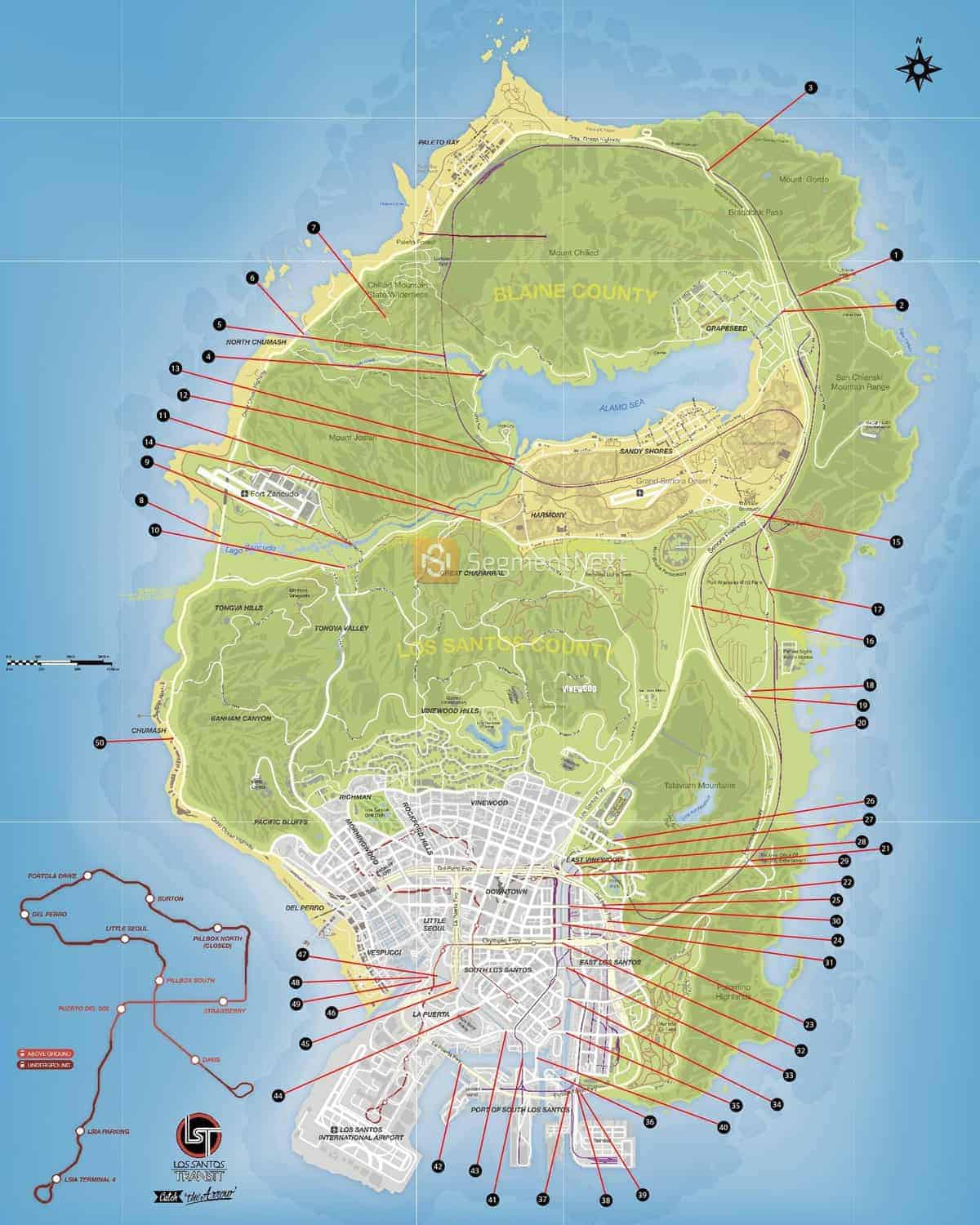 GTA 5 Under the Bridge Locations Map and Video Guide ...