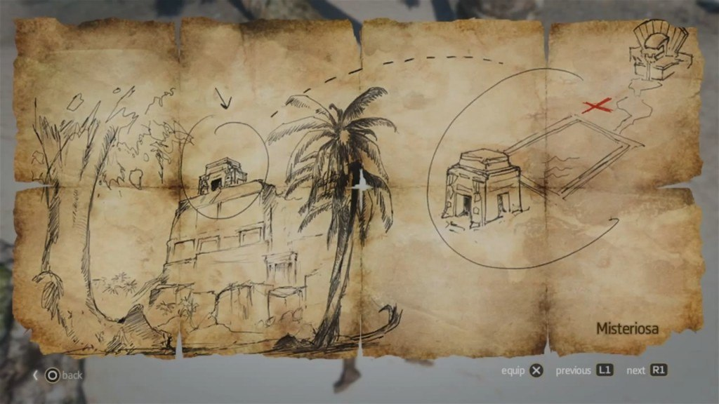 Assassins creed 4 black flag buried treasures locations guide black flag treasure map assassins creed gumiabroncs Choice Image