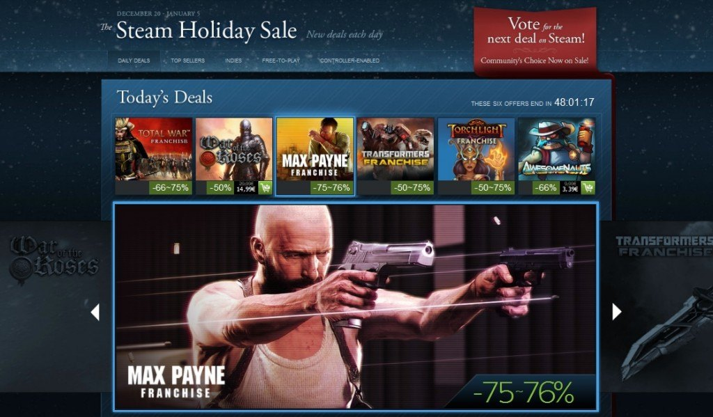 Steam Autumn and Holiday Sale Dates Leaked, Will Run The Same Discounts