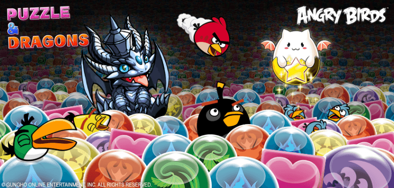 Angry Birds to pay a Visit to Puzzle & Dragons