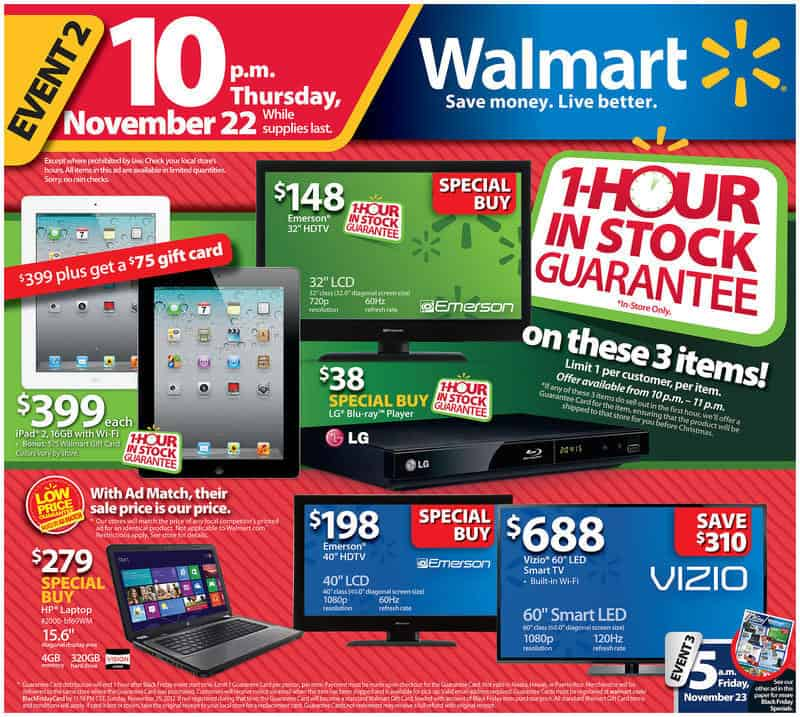 Save Massive With Walmart Black Friday Sale Consequently, Walmart Black Friday Sale is a Pre-festive sale day which is worth to look forward to. Also, this sale will be featuring some top rated products with massive discounts for all the shopping addicts.