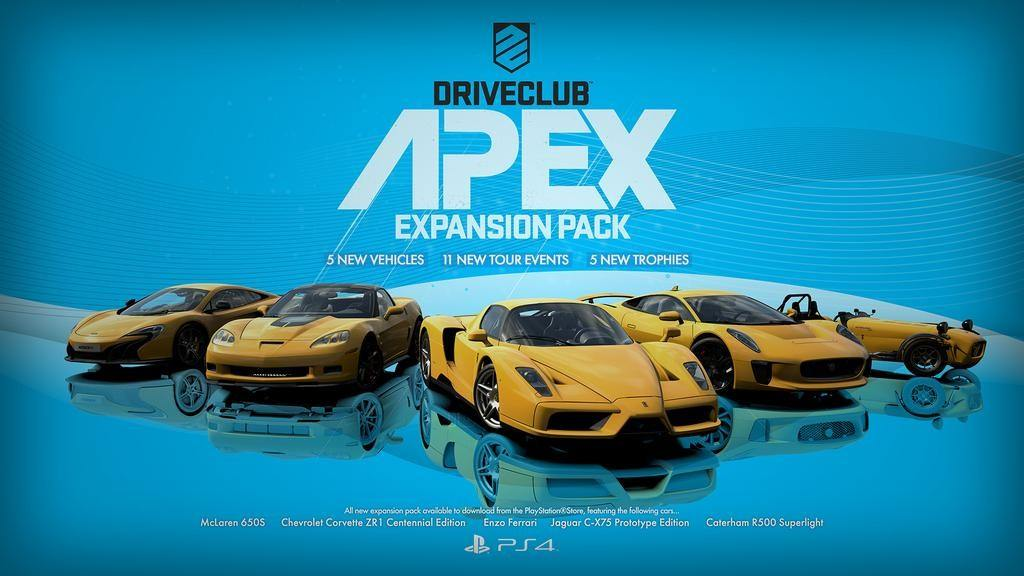 Driveclub Getting The Apex Car Pack and Five New Tracks Tomorrow