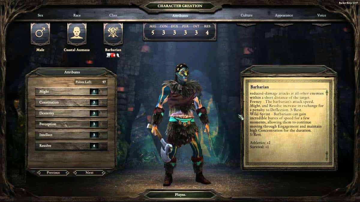 Pillars of Eternity Barbarian Class Guide - Stats, Abilities, Talents