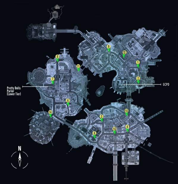 Batman Arkham Knight Campaign for Disarmament 'Bomb Locations' Guide
