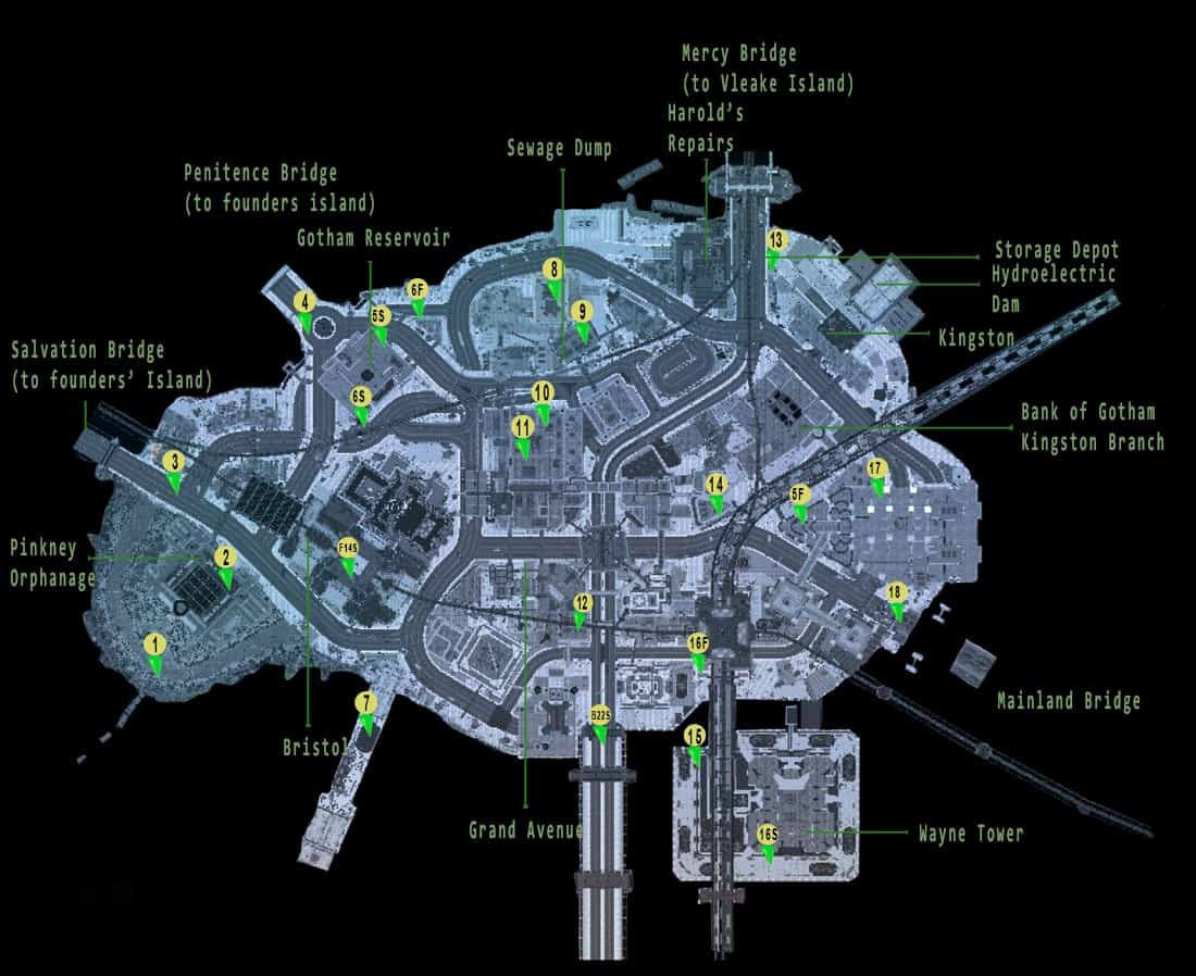 Arkham Knight Subway Map.Batman Arkham Knight Riddler Riddles Locations Trophy Puzzles Bomb