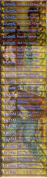 Shenmue 3 Kickstarter Stretch Goals
