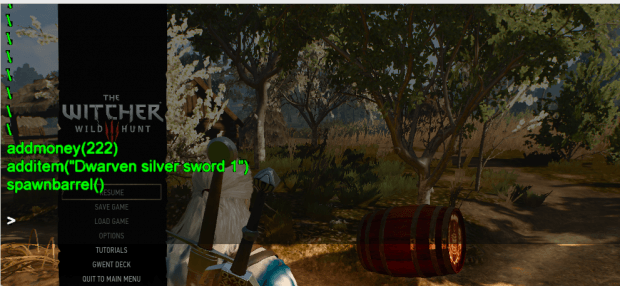 The Witcher 3 - Debug Console Enabler