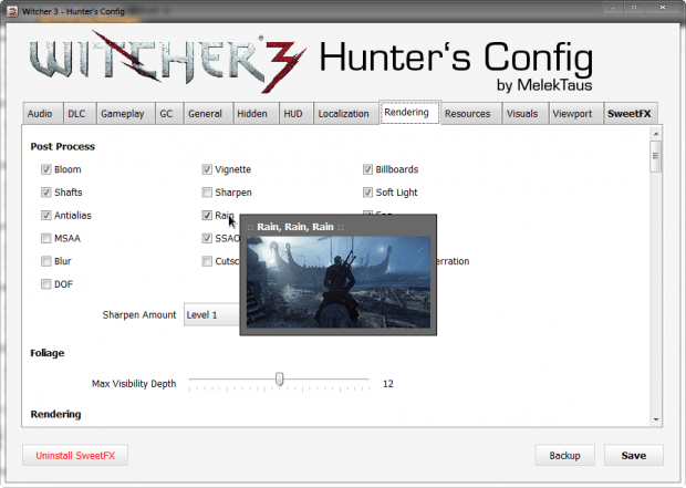 The Witcher 3 - Hunter's Config