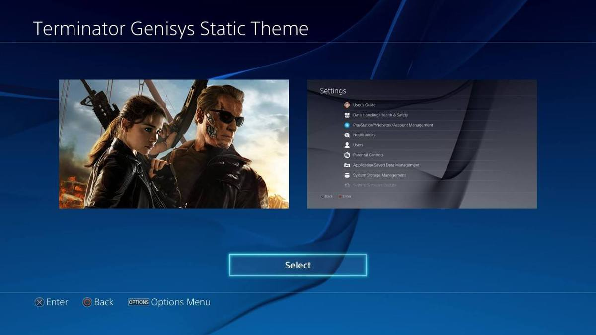 Adorn your PS4 UI with this Free Terminator Genisys Theme