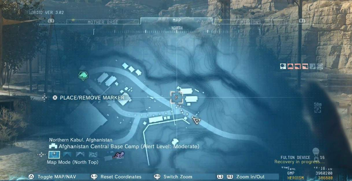 MGSV: Phantom Pain Invoices Locations 'Fast Travel Points Guide