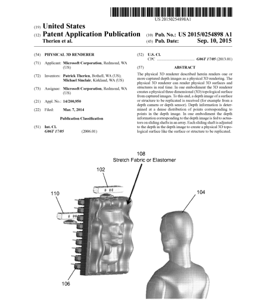 Kinect 3D Model Rendering Patent