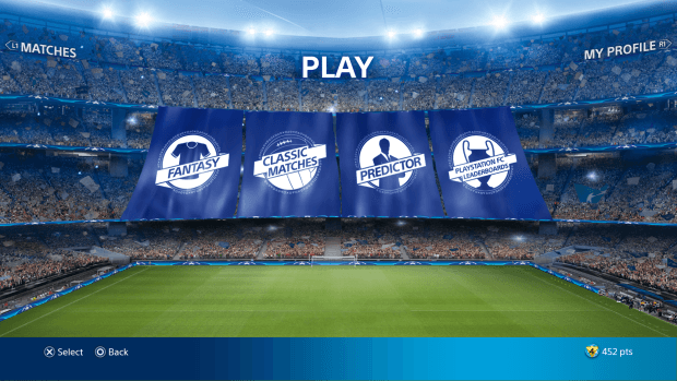 PlayStation F.C. Champions League App