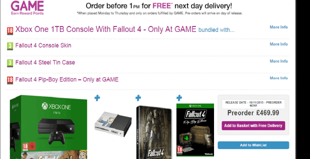 Xbox One 1TB Bundled With Fallout 4 PipBoy Edition Available at GAME