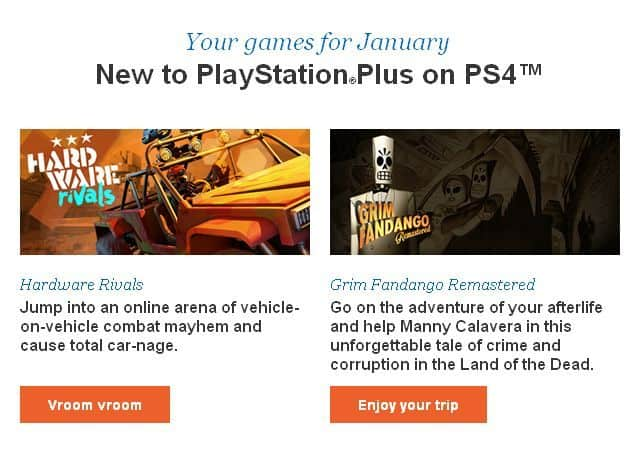 Playstation Plus Games January