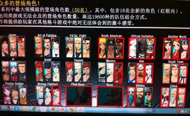 King of Fighters XIV Characters Bosses