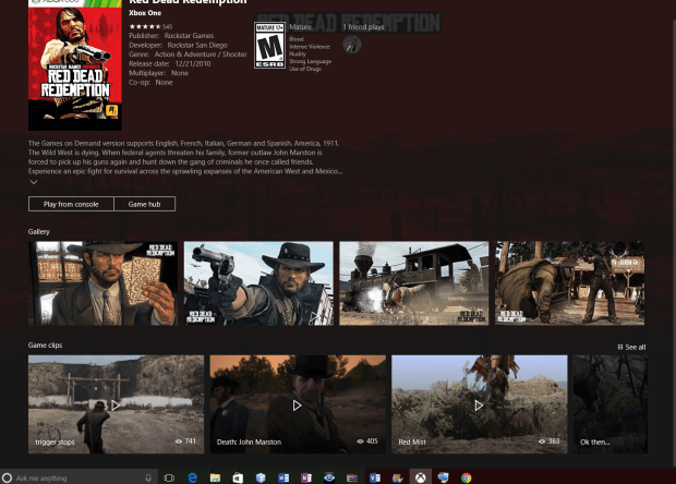 Red Dead Redemption as backward compatible