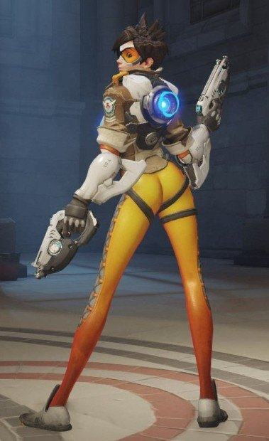 Tracer's victory shot in Overwatch