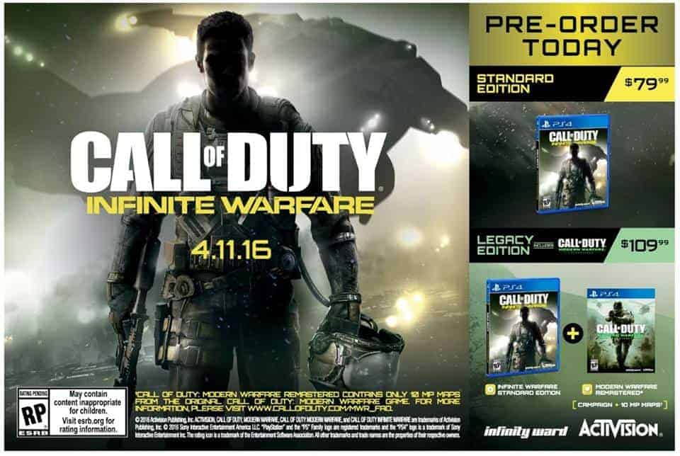 Call of Duty infinite warfare trademark