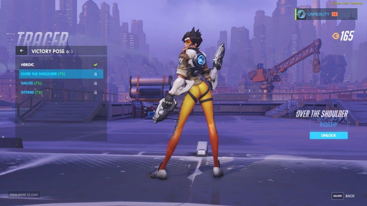New Tracer Pose in Overwatch