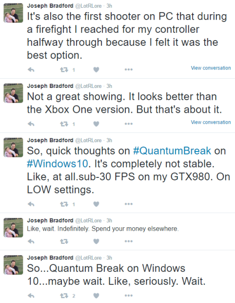 Quantum Break PC version