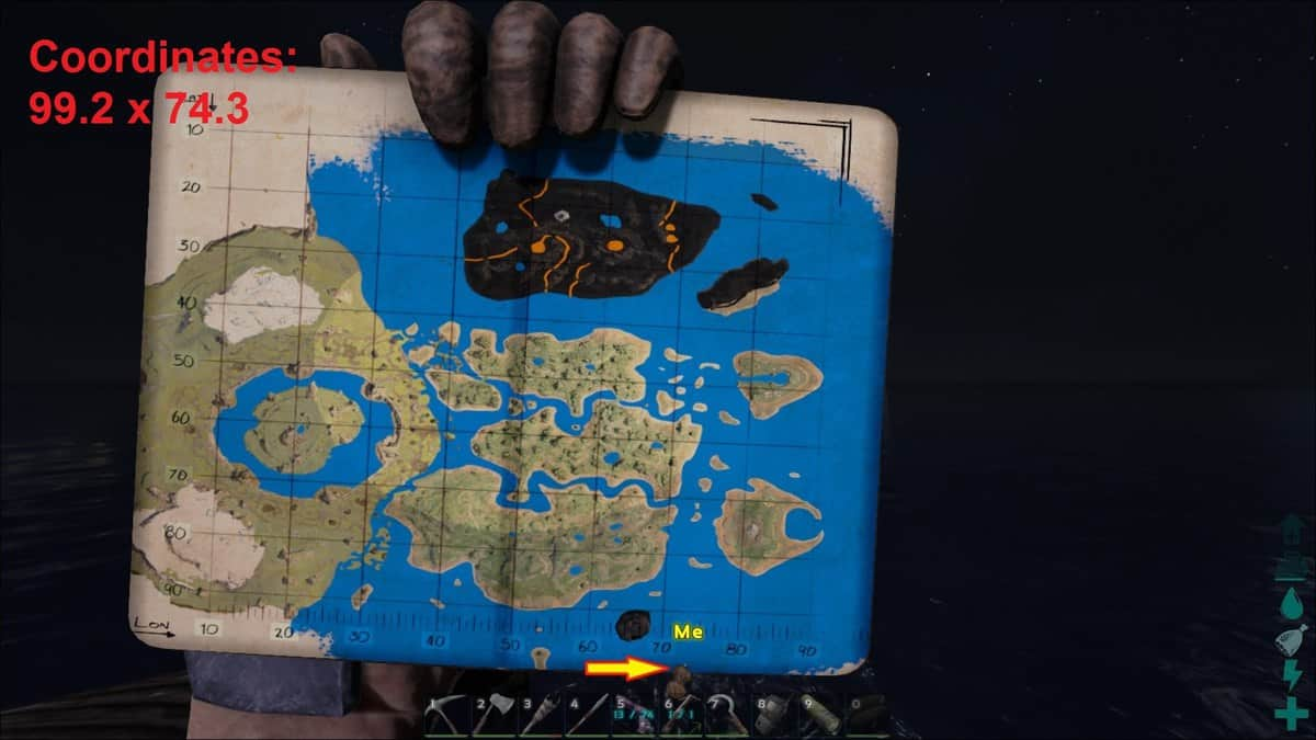 Ark survival evolved the center map caves locations map coordinates deep sea loot crates malvernweather Choice Image