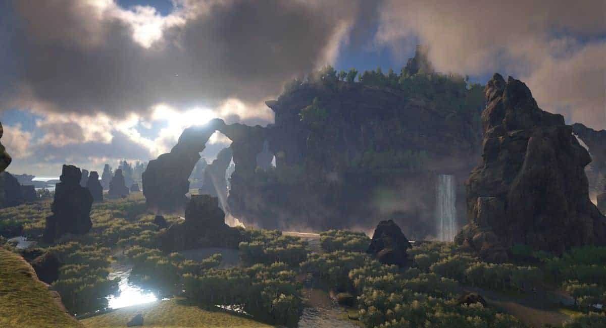 ARK Survival Evolved The Center Map Caves Locations, Map