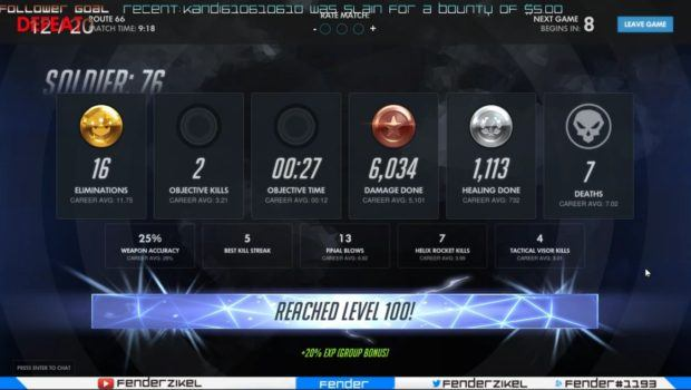 Overwatch level 100 player