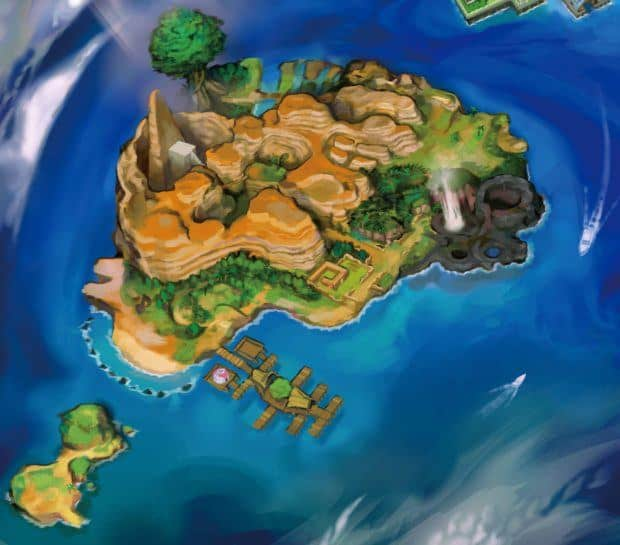 Pokemon Sun and Moon ALola Map - Island Four