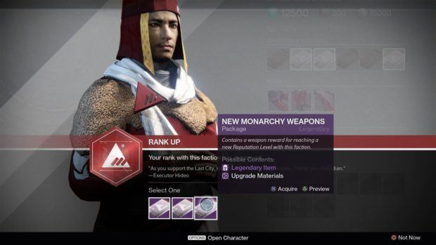 Destiny Faction rewards