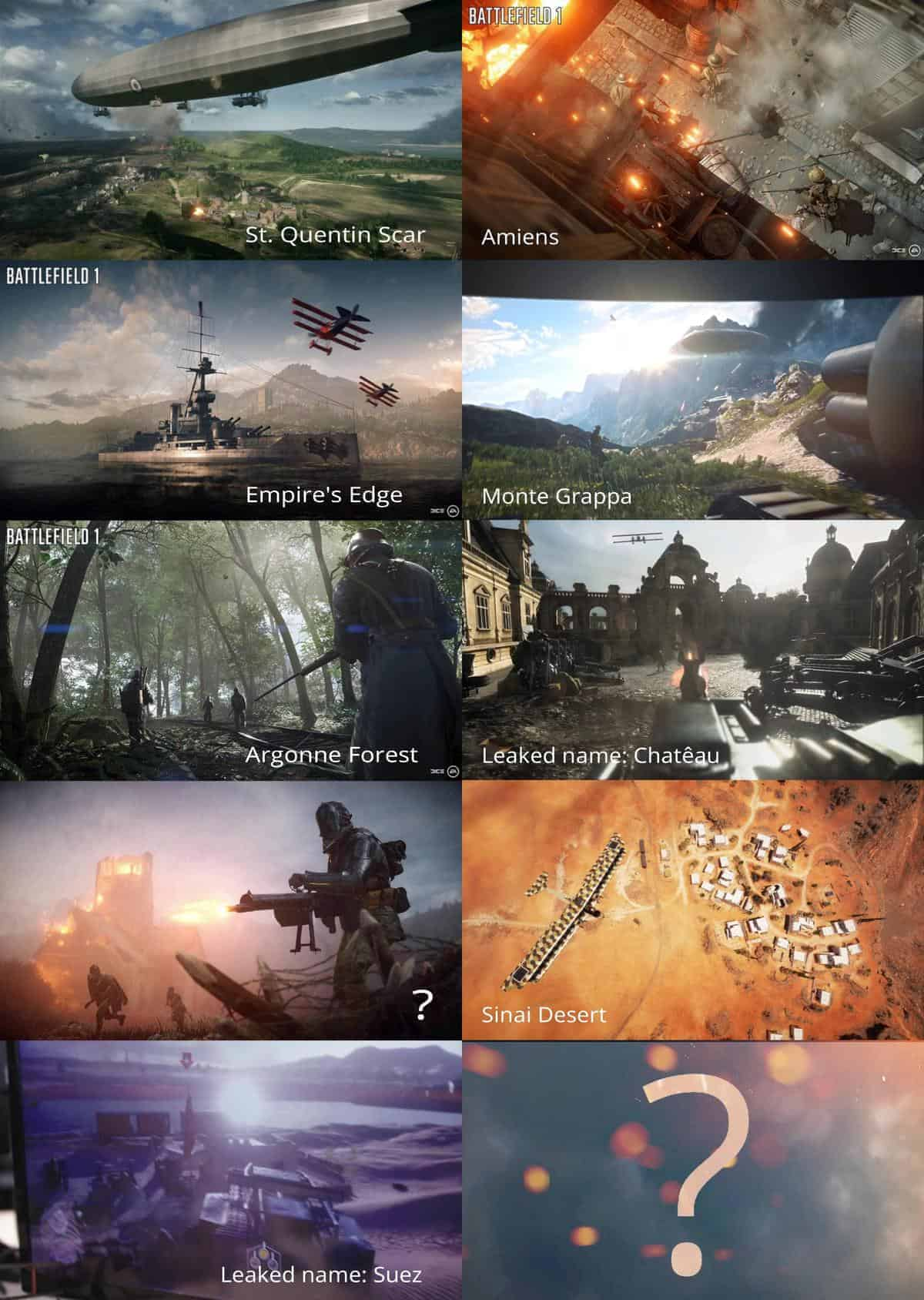 Battlefield 1 Leaked Maps