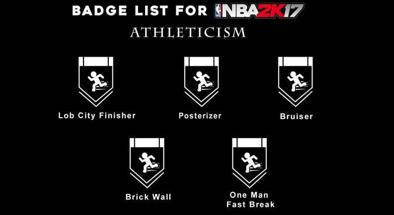 NBA 2K17 Badges