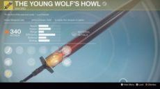 Rise of Iron Young Wolf's Howl Exotic Sword