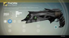 Rise of Iron Thorn Exotic Hand Cannon