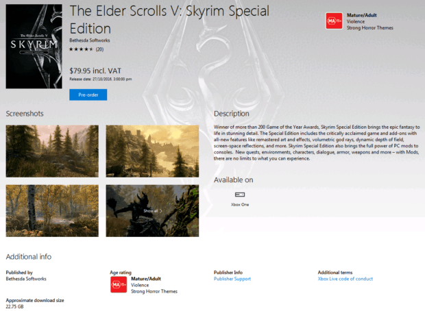 skyrim special edition file size