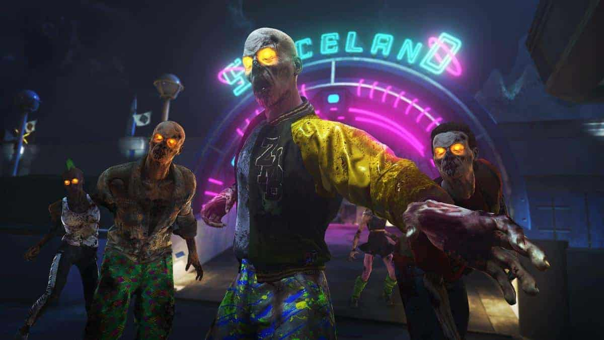 Infinite Warfare Zombies in Spaceland Map Locations