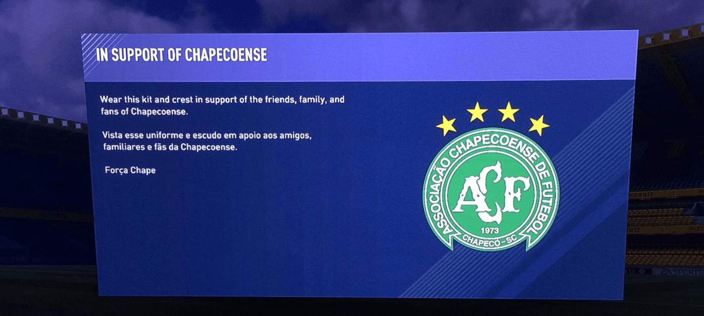 EA Is Honoring Chapecoense With Free Kit And Crest In FIFA 17