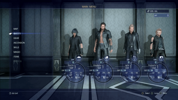 Final Fantasy XV Ascension Grid