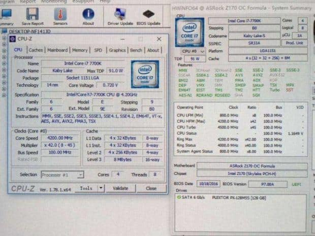Intel Core i7-7700K CPU