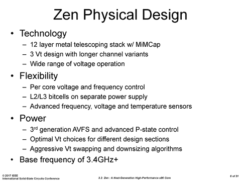 AMD Zen CPU Core Implementation Details Shared At ISSCC