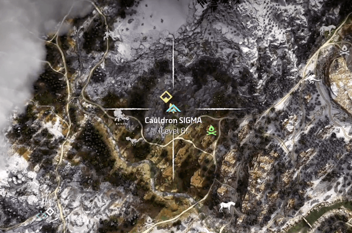 Horizon Zero Dawn Cauldron Locations Guide Find All Dungeons - The great cauldron us map