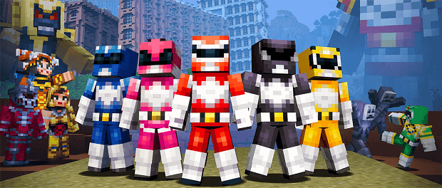 Mighty Morphin Power Rangers Minecraft Skin Pack Launches Today on Multiple Platforms