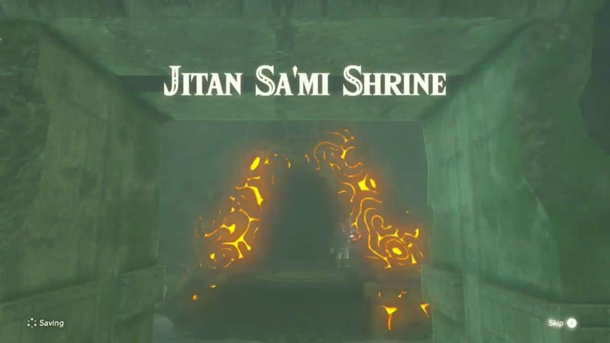 Zelda Breath of the Wild Jitan Sa'mi Shrine