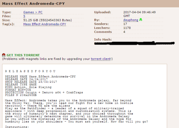 Mass Effect Andromeda Cracked By CPY In Record Time!