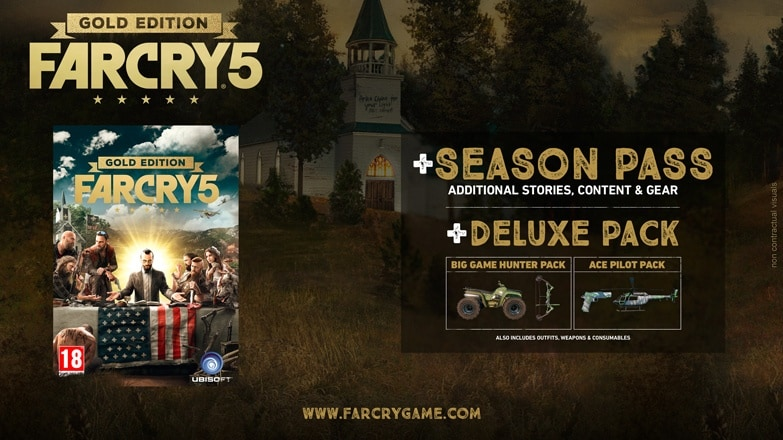 Far Cry 5 Deluxe Edition and Far Cry 5 Gold Edition